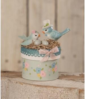 Blue Birds On Box
