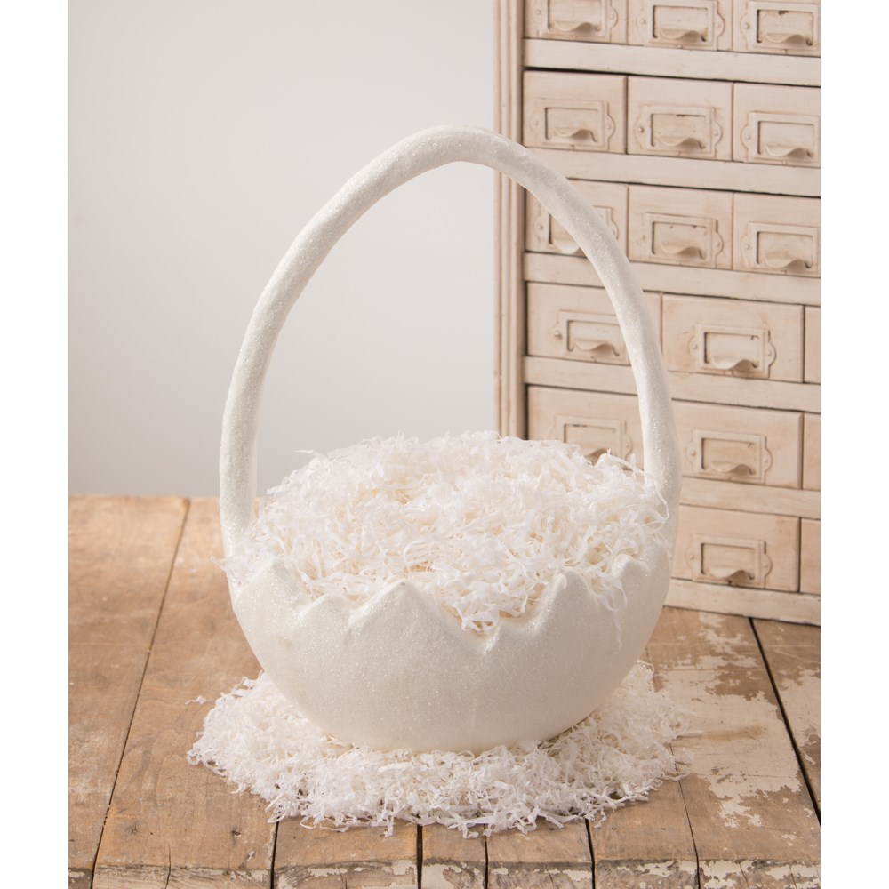 Cracked Egg Bucket Large Paper Mache