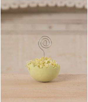 Cracked Egg Green Place Card Holder