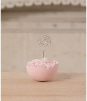 Cracked Egg Pink Place Card Holder