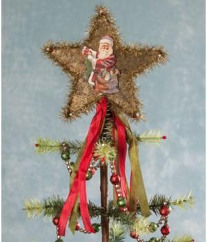Vintage Star Tree Topper