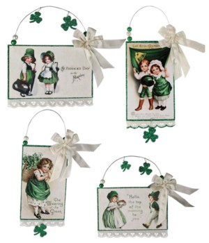 ST. PAT'S POSTCARD ORNAMENT 4/A