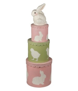 Spring Bunny Nesting Boxes S/3