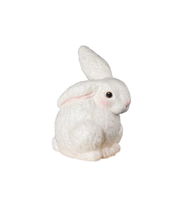 Glittered Egg Dye Bunny White