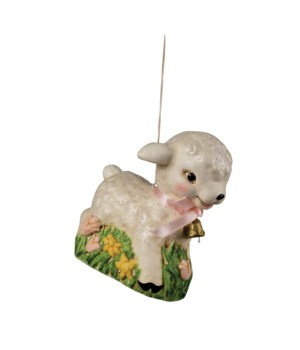 Retro Lamb Ornament