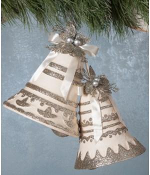 Silver Bells Paper Mache S/2