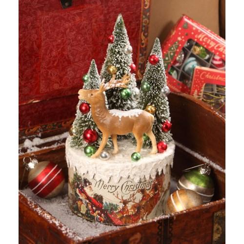Traditional Deer Vignette on Box