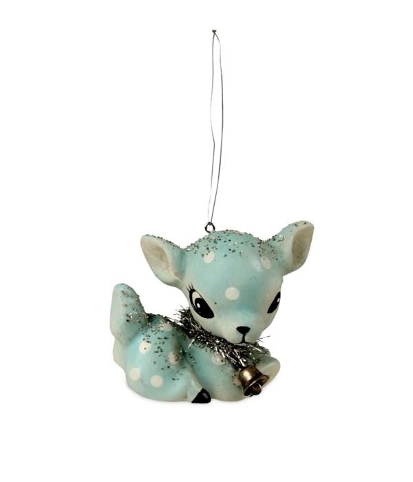 Aqua Fawn Ornament