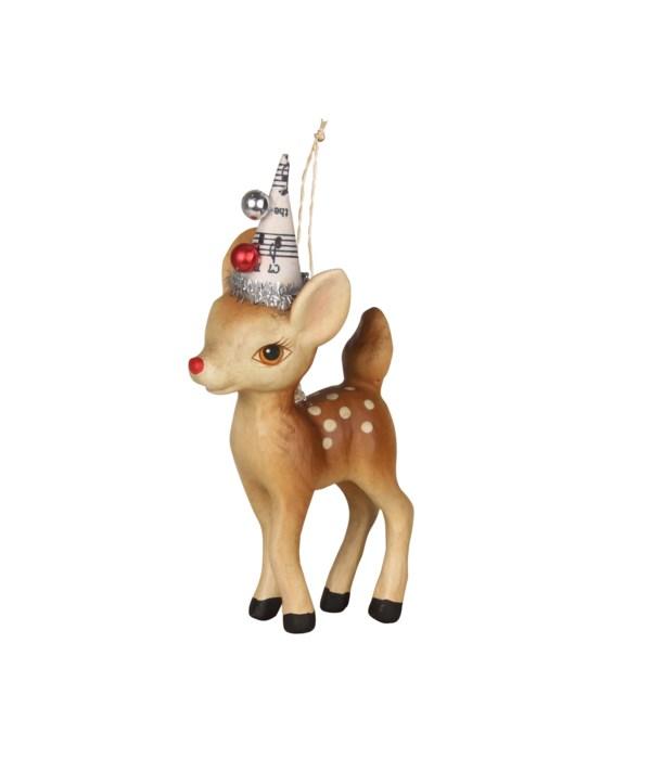 Retro Reindeer Ornament