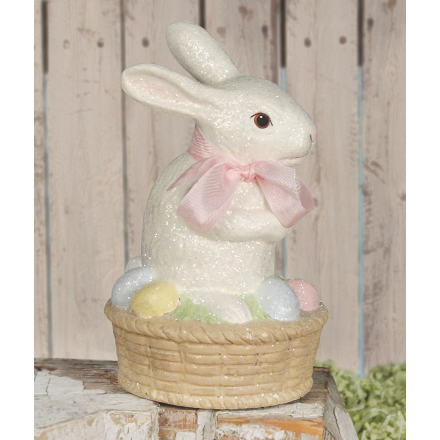 Bunny on Egg Basket