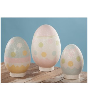 Easter Eggs Large Paper Mache S/3