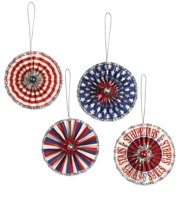 Americana Rosette Ornament S4