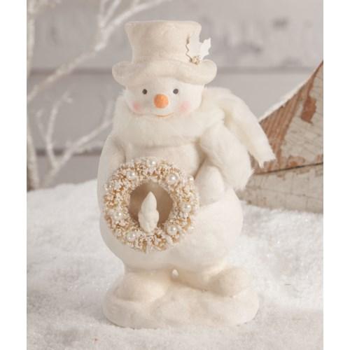 Snowman With Wreath