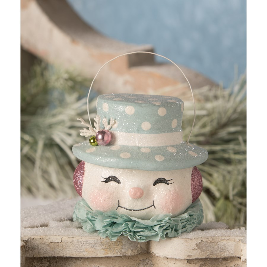 Happy Pastel Snowman Bucket Medium