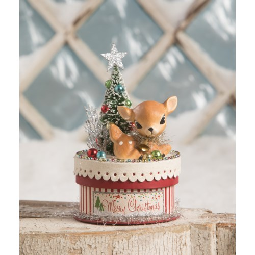 Merry & Bright Deer on Box
