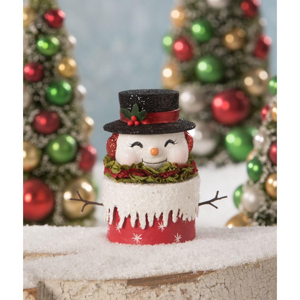 Happy Retro Snowman Box