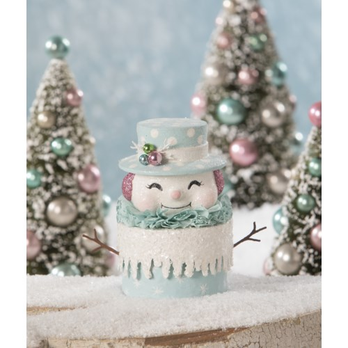 Happy Pastel Snowman Box