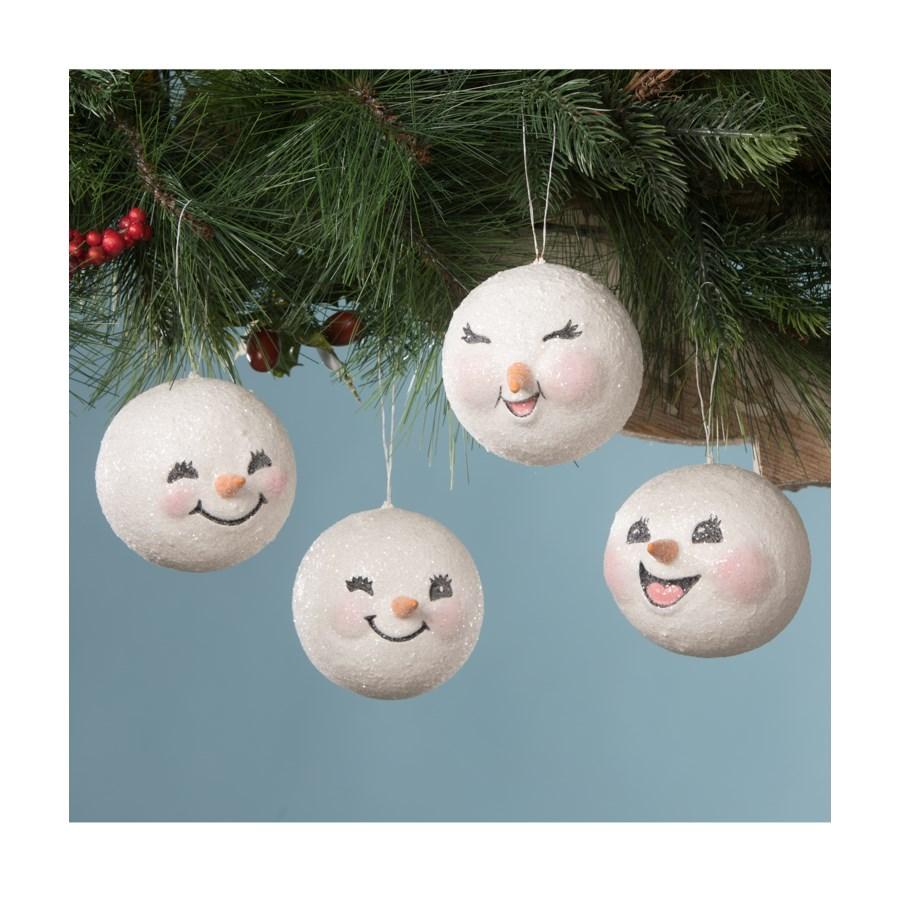 Happy Snowman Head Ornament 4A