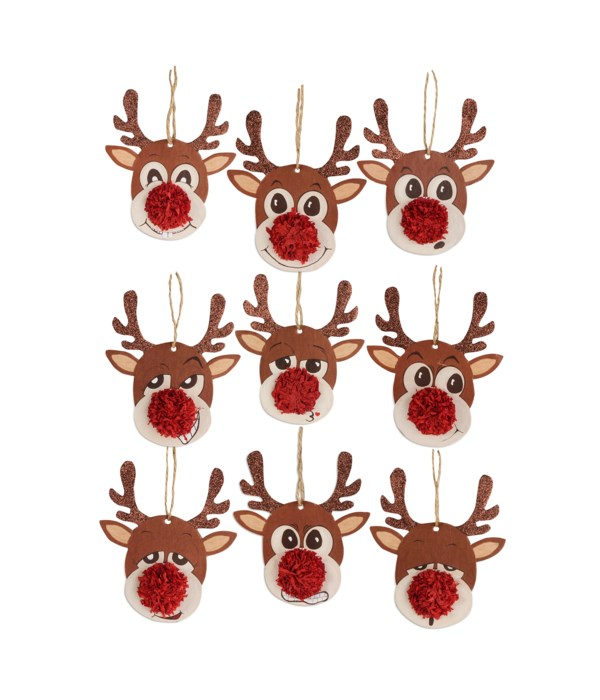 Reindeer Games Ornament 9A