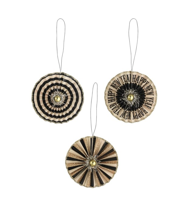 New Year's Eve Rosette Ornament 3A