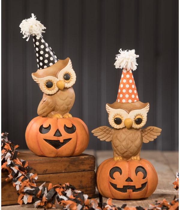 Party Owl On Pumpkin 2A