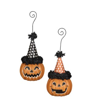 Party Pumpkin Ornament & Place Card Holder 2/A