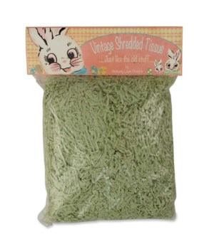 Shredded Tissue Paper Spring Green