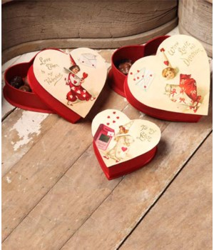 Valentine Nesting Treat Box S/3