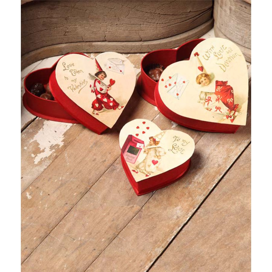 Valentine Nesting Treat Box S/3