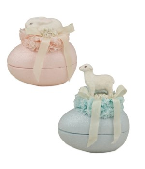 Bunny & Lamb on Egg Container 2/A
