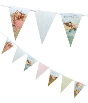TRAVELING EASTER PENNANT GARLAND
