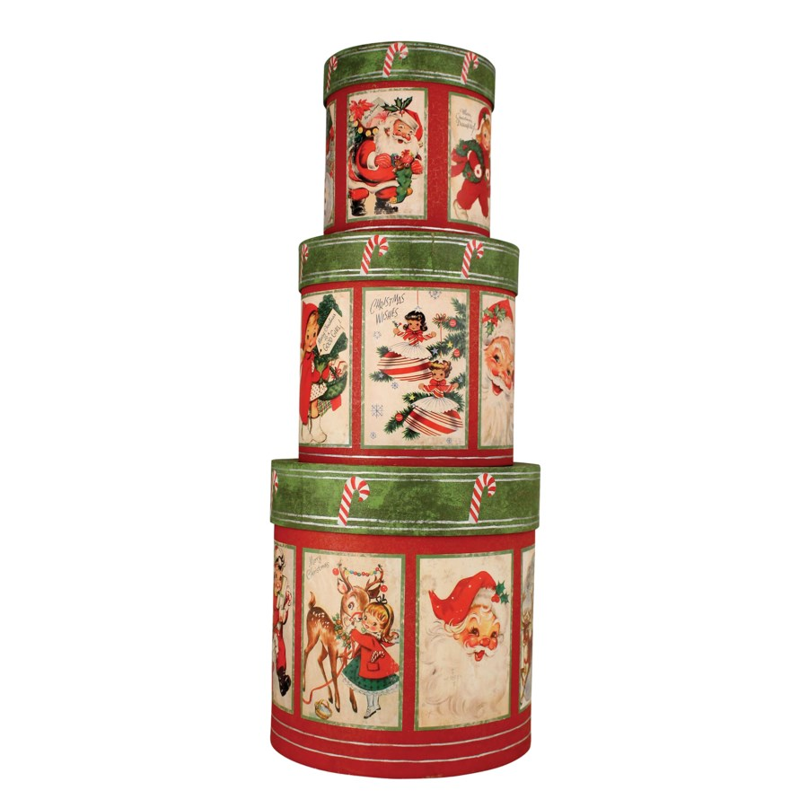 Retro Christmas Nesting Boxes S/3