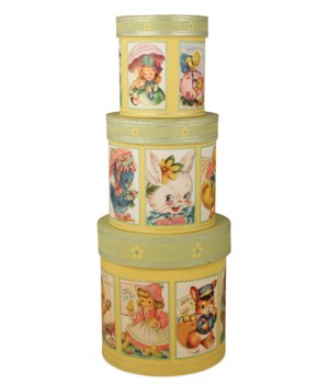 Retro Easter Nesting Boxes S/3