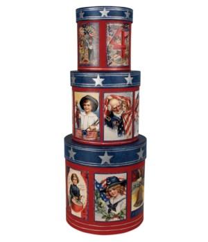 Americana Nesting Boxes S/3
