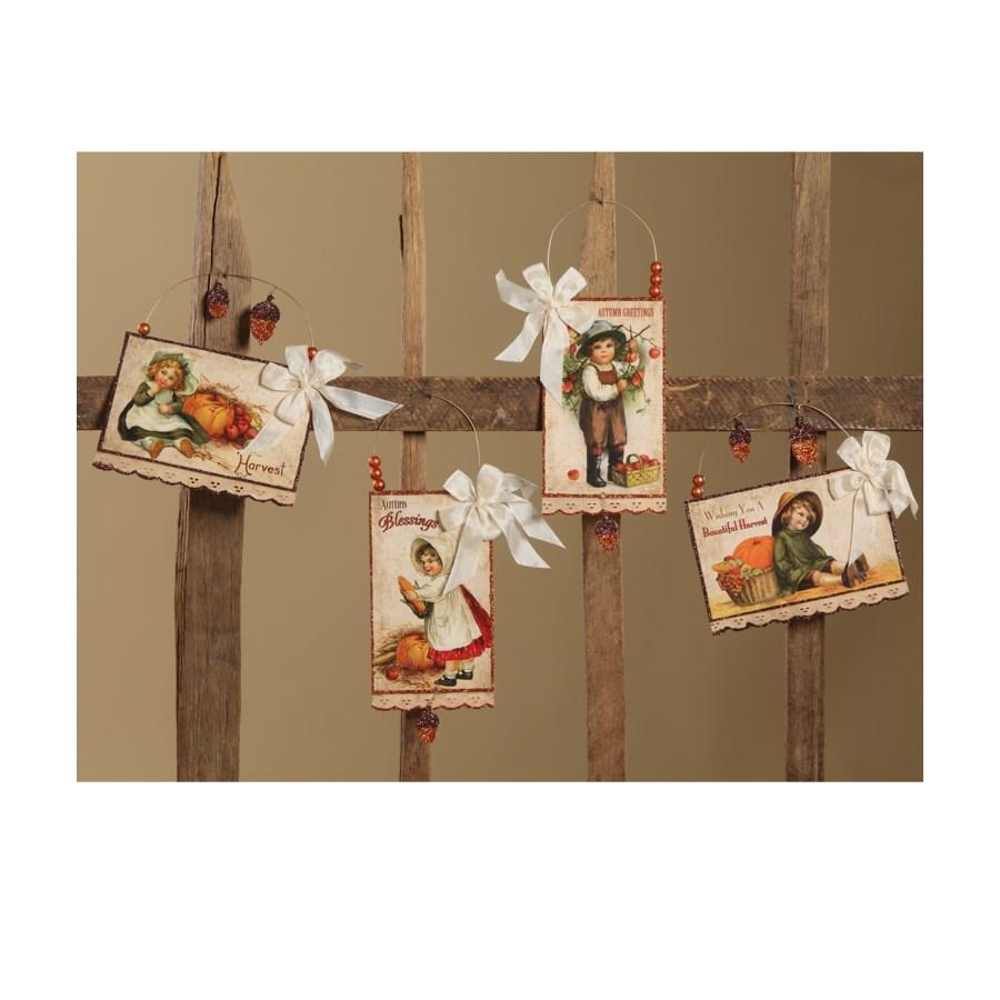 Harvest Postcard Ornament 4/A