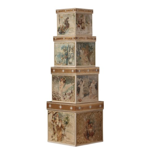 A Peaceful Christmas Nesting Boxes S/4