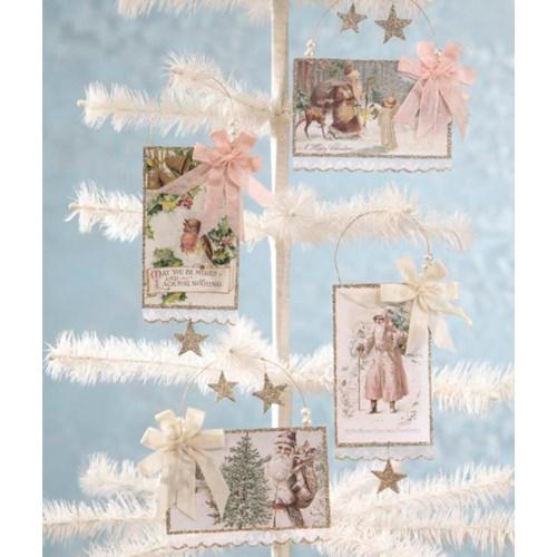 Embellished Postcard Ornament 4/A
