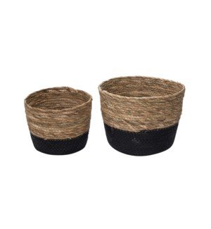 ALDIS NATURAL BASKETS LARGE, SET OF 2