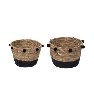 ALDIS NATURAL BASKETS SMALL, SET OF 2