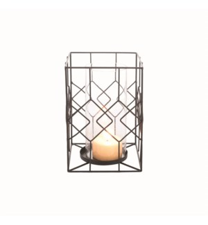DIAMOND WIRE CANDLE HOLDER LARGE