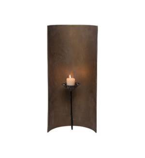 CURVED METAL WALL SCONCE