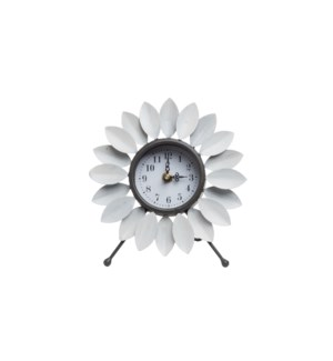 FLORA TABLETOP CLOCK WHITE
