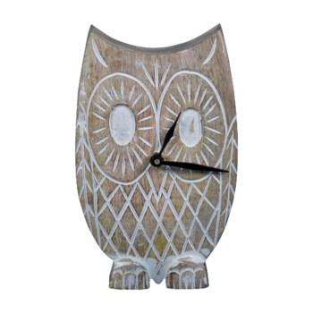 TWYLA OWL TABLETOP CLOCK