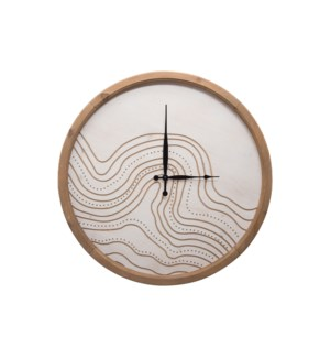 ROUTED RIVER WALL CLOCK