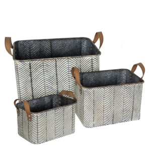 BRAXTON BASKETS, SET OF 3