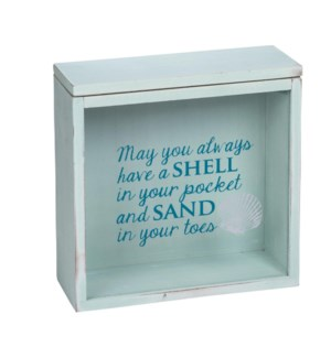 SHELLS AND SAND KEEPSAKE BOX
