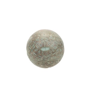CHARLOTTE CARVED DECO BALL MINT