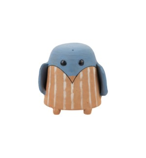 TERRACOTTA BLUE BIRD FIGURE