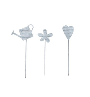 ETCHED GARDEN STAKE, 3 STYLES