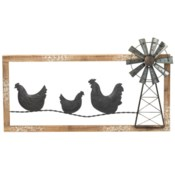 CHICKEN WINDMILL WALL ART